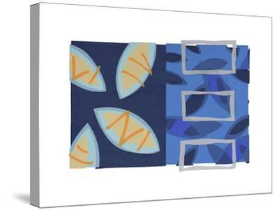 Orange Fish-Lee Crew-Stretched Canvas Print