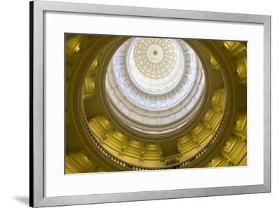 USA, Texas, Austin. The Capitol Building with the Goddess of Liberty.-Randa Bishop-Framed Photographic Print