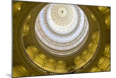 USA, Texas, Austin. The Capitol Building with the Goddess of Liberty.-Randa Bishop-Mounted Photographic Print