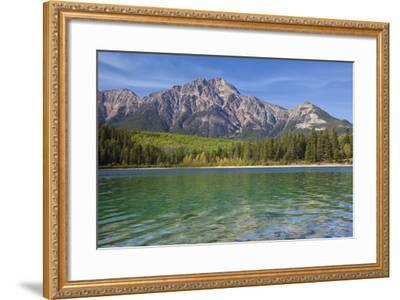 Patricia Lake and Pyramid Mountain, Jasper NP, Alberta, Canada.-Don Paulson-Framed Photographic Print