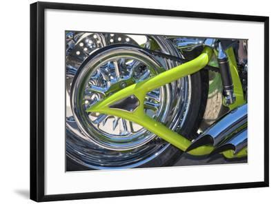 USA, Florida, Daytona Beach, customized bike, bike week.-Jim Engelbrecht-Framed Photographic Print