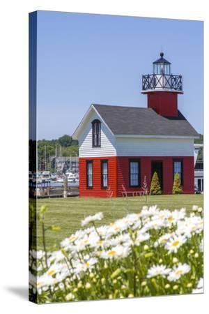 Old Lighthouse, on Lake Kalamazoo, Saugatuck, West Michigan, USA-Randa Bishop-Stretched Canvas Print