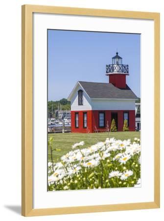 Old Lighthouse, on Lake Kalamazoo, Saugatuck, West Michigan, USA-Randa Bishop-Framed Photographic Print