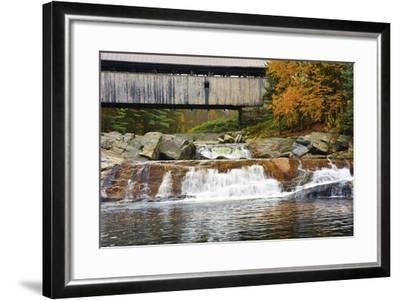 Covered bridge over Wild Ammonoosuc River, New Hampshire, USA-Michel Hersen-Framed Photographic Print