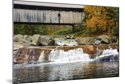 Covered bridge over Wild Ammonoosuc River, New Hampshire, USA-Michel Hersen-Mounted Photographic Print