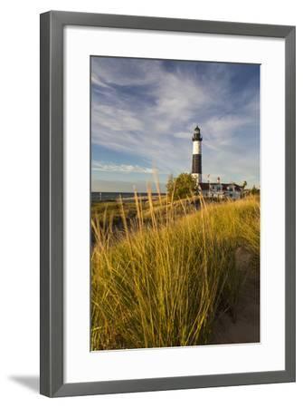 Big Sable Point Lighthouse on Lake Michigan, Ludington SP, Michigan-Chuck Haney-Framed Photographic Print