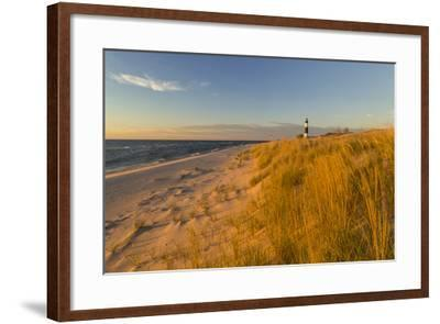 Big Sable Point Lighthouse on Lake Michigan, Ludington SP, Michigan-Chuck Haney-Framed Photographic Print