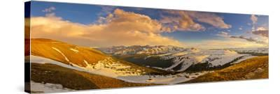 USA, Colorado, Rocky Mountain NP. Overlook from Trail Ridge Road.-Fred Lord-Stretched Canvas Print