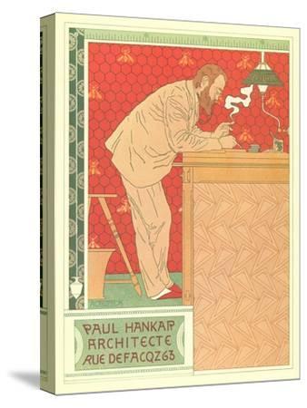 Paul Hankar, Architect--Stretched Canvas Print