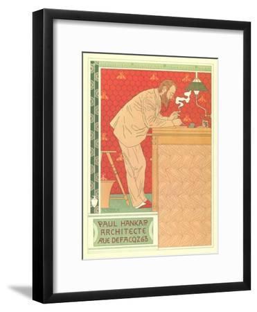 Paul Hankar, Architect--Framed Art Print