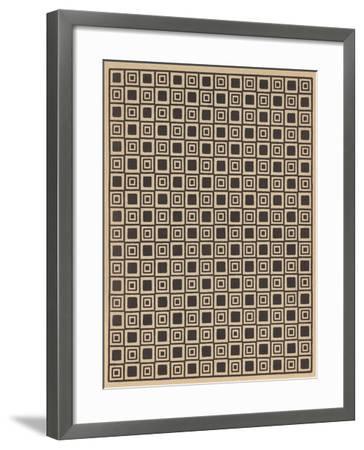 Geometric Tan and Black Patterns--Framed Art Print