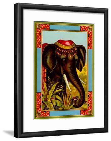 Indian Elephant with Beanie--Framed Art Print