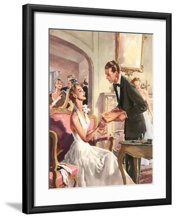 Couple at Fancy Dress Ball--Framed Art Print
