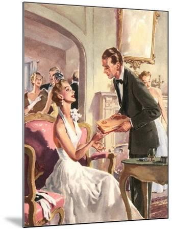 Couple at Fancy Dress Ball--Mounted Art Print