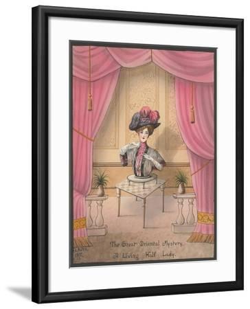 A Living Half Lady--Framed Art Print