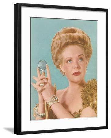 Actress as Queen--Framed Art Print