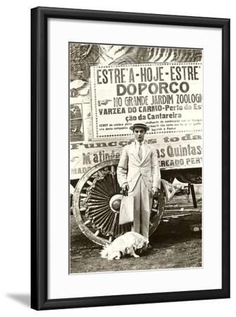 Portuguese Singing Dog Act--Framed Art Print