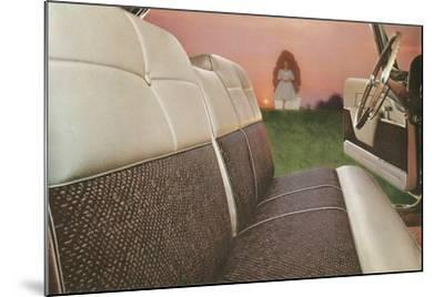 American Car Interior with Saintly Vision--Mounted Art Print