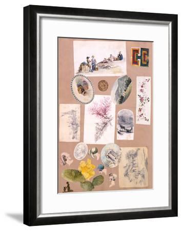 Color Collage--Framed Art Print