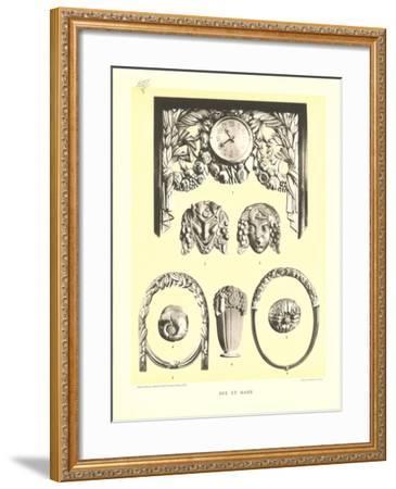 Sue Et Mare Decorative Elements--Framed Art Print