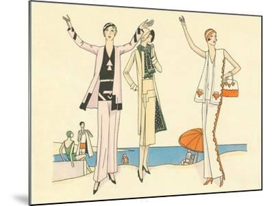 Vintage Haute Couture Beach Wear--Mounted Art Print