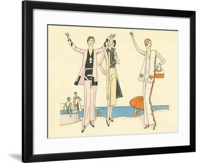 Vintage Haute Couture Beach Wear--Framed Art Print