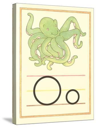 O Is for Octopus--Stretched Canvas Print
