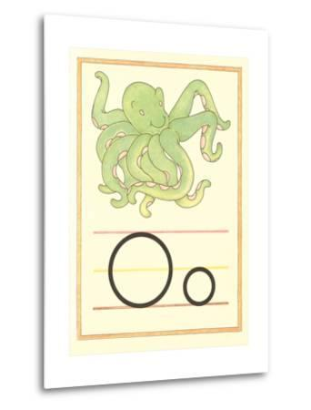O Is for Octopus--Metal Print