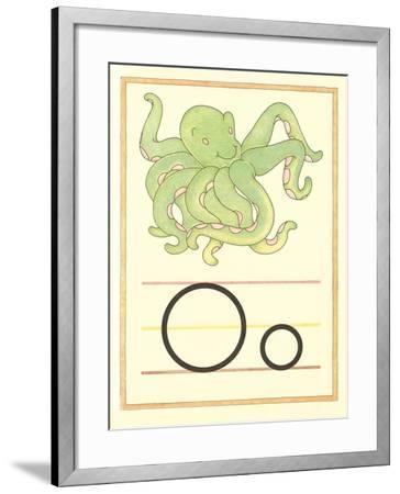 O Is for Octopus--Framed Art Print