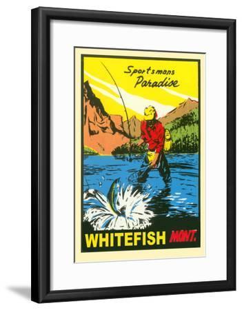 Sportsman Paradise, Whitefish--Framed Art Print