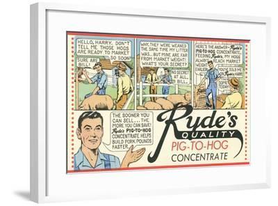 Pig-To Hog Concentrate Ad--Framed Art Print