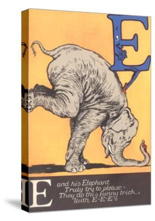 E Is for Elephant--Stretched Canvas Print