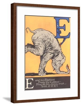 E Is for Elephant--Framed Art Print