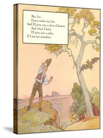 Bat Poem--Stretched Canvas Print