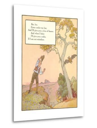 Bat Poem--Metal Print