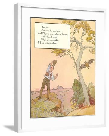 Bat Poem--Framed Art Print