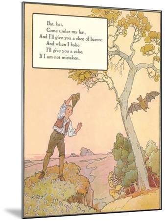 Bat Poem--Mounted Art Print