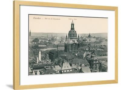 Overview of Old Dresden, Germany--Framed Art Print
