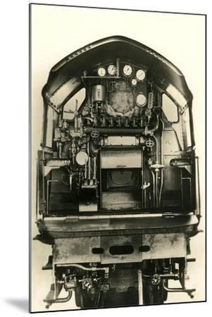Cutaway View of Train Engine--Mounted Art Print