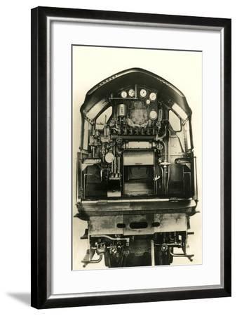 Cutaway View of Train Engine--Framed Art Print