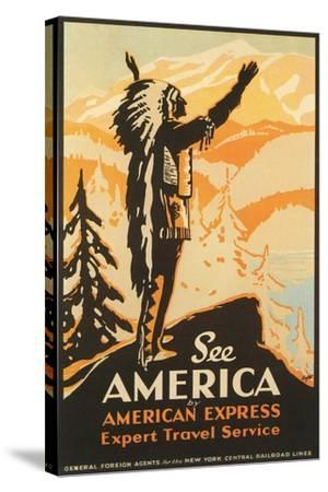 See America Travel Poster--Stretched Canvas Print