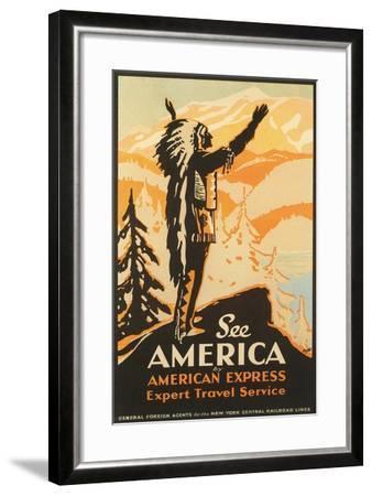 See America Travel Poster--Framed Art Print
