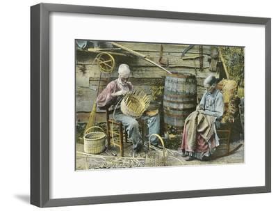 Basket Weaving in Kentucky--Framed Premium Giclee Print