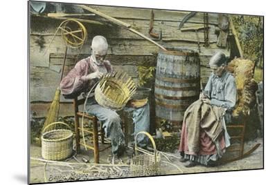 Basket Weaving in Kentucky--Mounted Art Print
