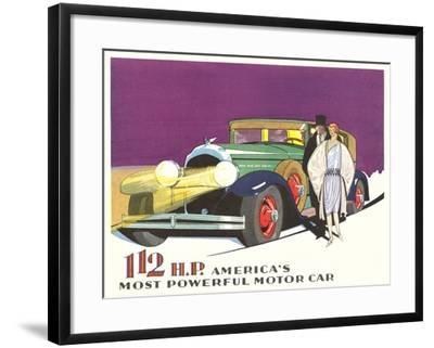 Most Powerful Motor Car--Framed Art Print