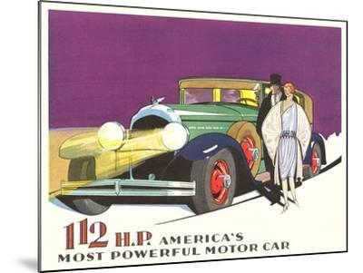 Most Powerful Motor Car--Mounted Art Print
