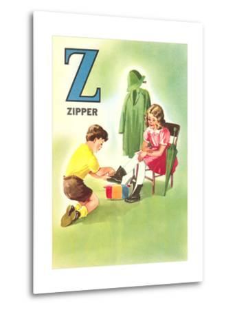 Z Is for Zipper--Metal Print