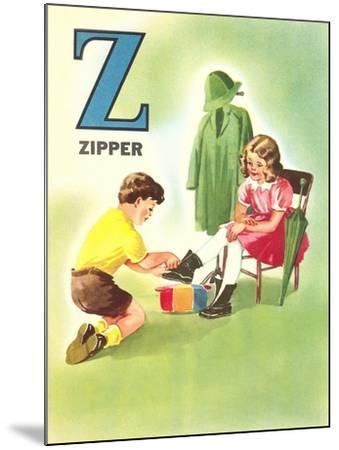 Z Is for Zipper--Mounted Art Print