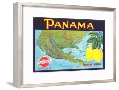 Panama Lemon Label--Framed Art Print
