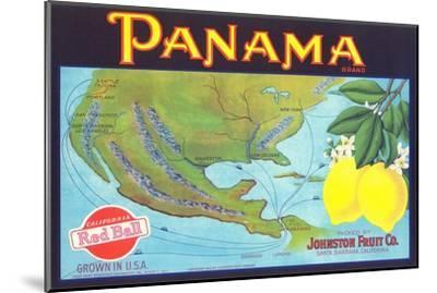 Panama Lemon Label--Mounted Art Print